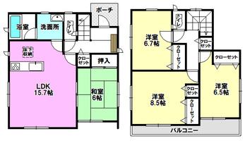 新築戸建 益城町安永 第3 1号棟間取り