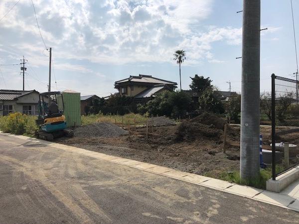 南区富合町、新築工事始まりました